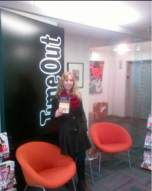 Picking up my book at Time Out Chicago