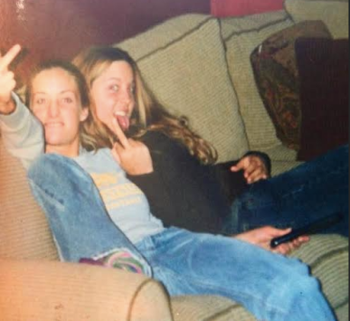 My friend Hannah and I at 16.