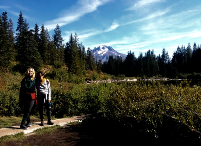 my friend Fran and I on our hike yesterday