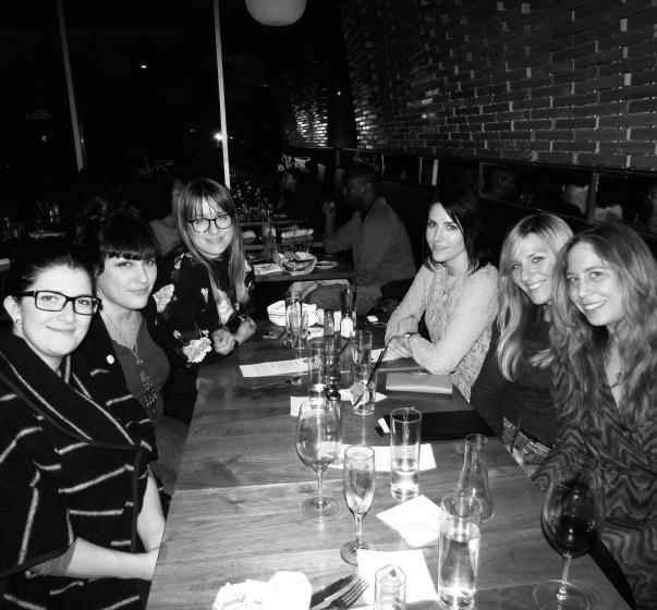 Claire Vaye Watkins, Amanda Goldblatt, Chelsea Martin, Juliet Escoria, EE, and me.