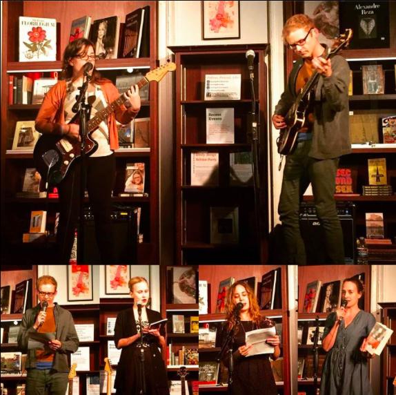Sara Renberg, Joshua James Amberson, Niina Pollari, me, Emily Gould. Photos by Oliva Croom