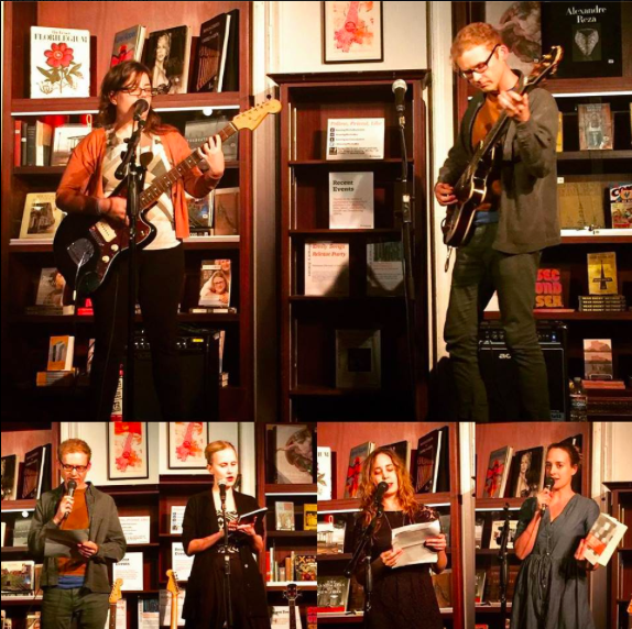 Sara Renberg, Joshua James Amberson, Niina Pollari, me, Emily Gould. Photos by Oliva Croom